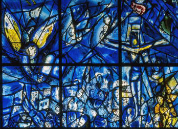 "A detail from Marc Chagall's ""Peace Window"""