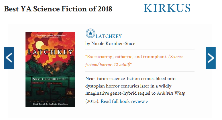 LATCHKEY by Nicole Kornher-Stace makes Kirkus Best of the